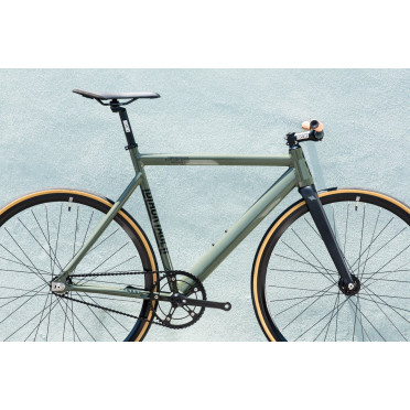 Fixie State Bicycle - Black Label V2 - ARMY GREEN