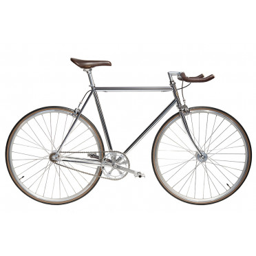 Vélo Single Speed JITENSHA Chrome