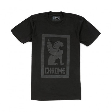 T-Shirt Chrome Large Lock Up - Noir