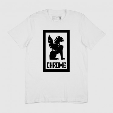 T-Shirt Chrome Large Lock Up - Blanc