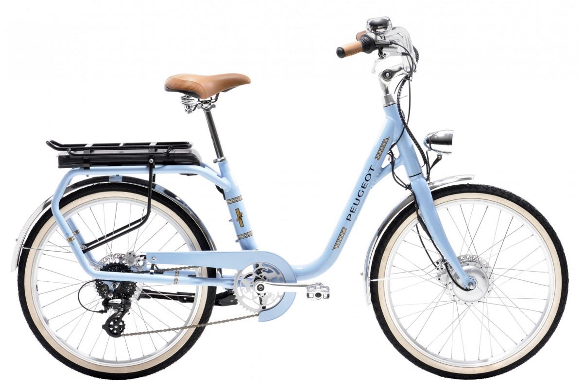 Vélo Électrique Peugeot eLC01 e-LEGEND - Bleu Vintage