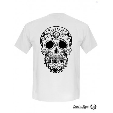 "T-shirt Dead is Hype ""Skull Head"" Blanc"