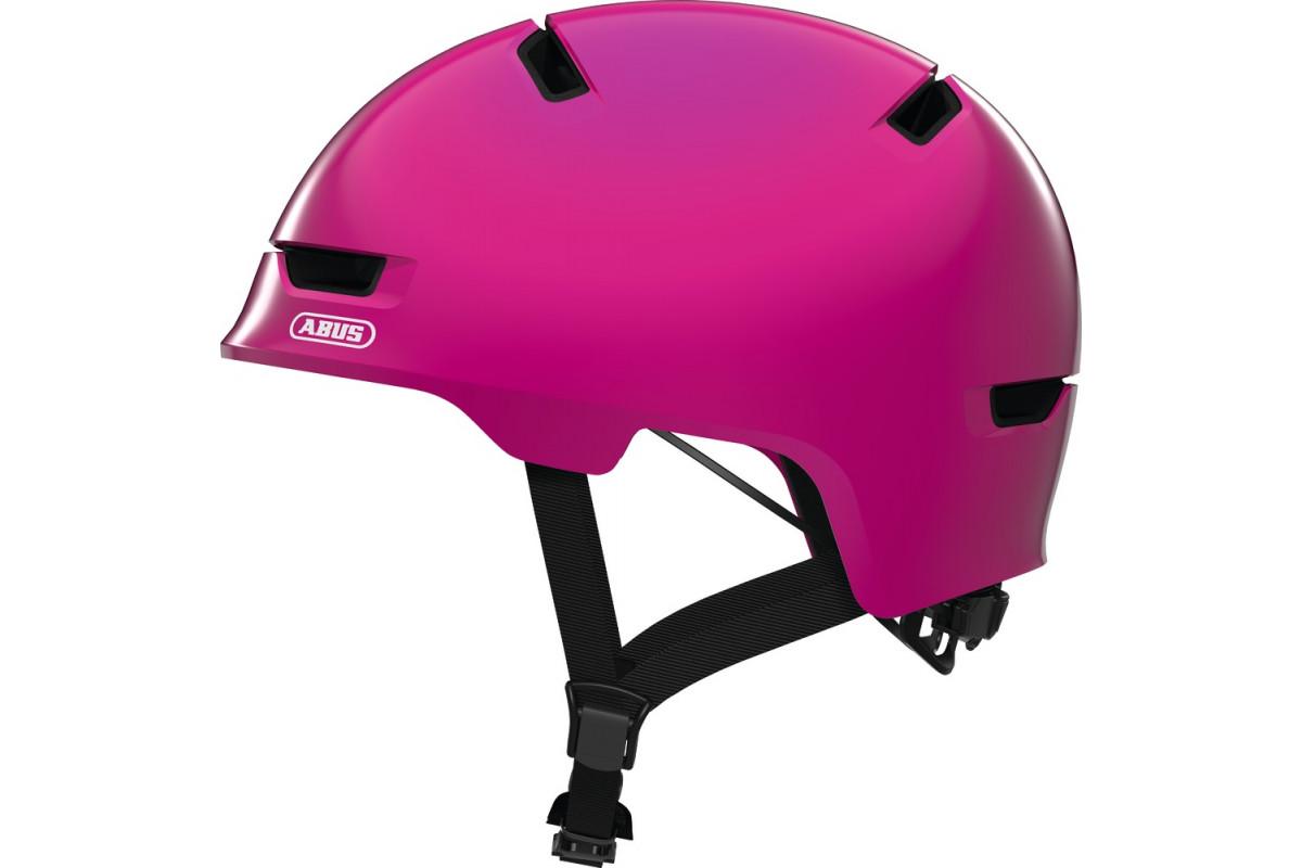 Casque Vélo Enfant ABUS Scraper Kid 3.0 Shiny Pink