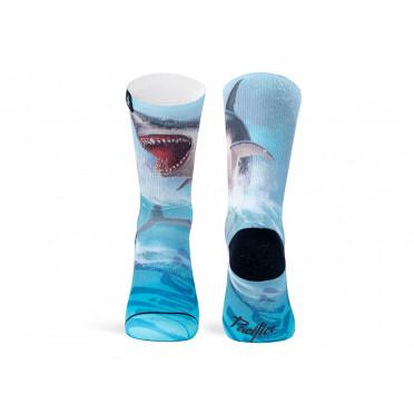 Paire de chaussettes cycliste PACIFIC & CO - Shark