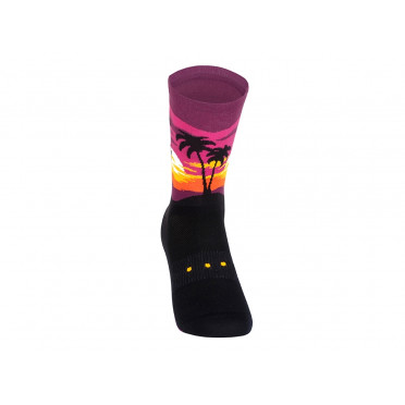 Paire de chaussettes cycliste PACIFIC & CO - Sunset