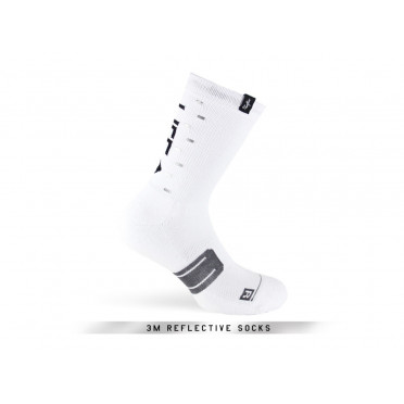 Paire de chaussettes cycliste PACIFIC & CO - Speed / Slow Life (Blanc)