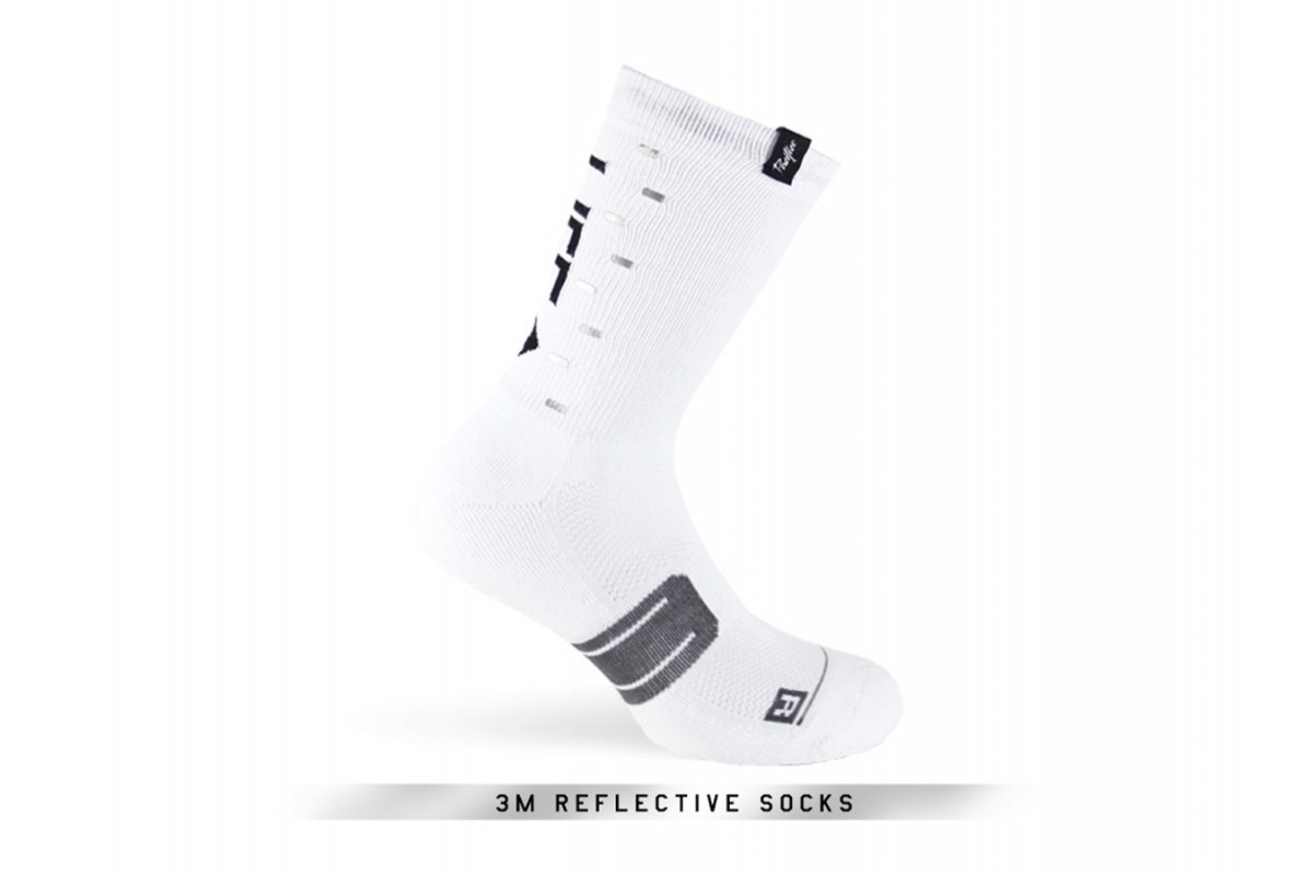 Paire de chaussettes cycliste PACIFIC & CO - Speed / Slow Life (Blanc)