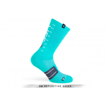 Paire de chaussettes cycliste PACIFIC & CO - Speed / Slow Life (Turquoise)