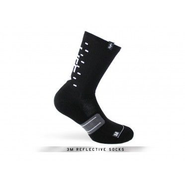 Paire de chaussettes cycliste PACIFIC & CO - Speed / Slow Life (Noir)