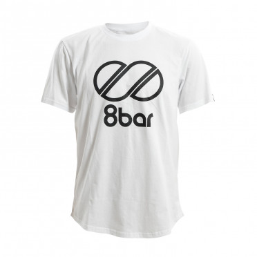 T-Shirt 8BAR Logo Blanc