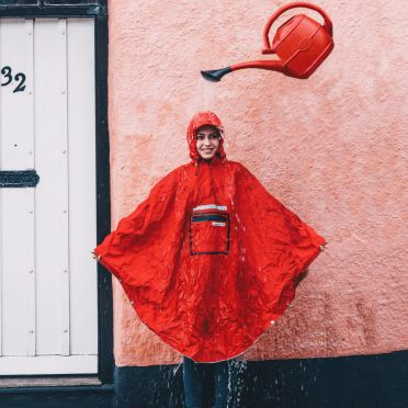 Poncho Imperméable The People's Poncho 3.0 Hardy Rouge