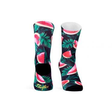 Paire De Chaussettes Cycliste PACIFIC & CO - Watermelon