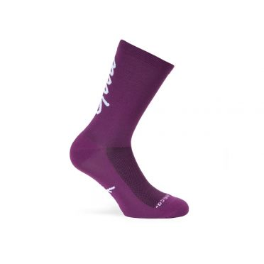 Paire De Chaussettes Cycliste PACIFIC & CO - Good Vibes - Purple