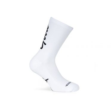 Paire De Chaussettes Cycliste PACIFIC & CO - Good Vibes - White