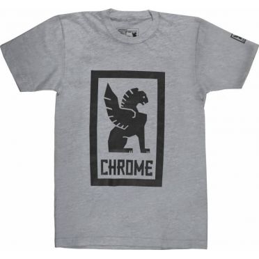 T-Shirt Chrome Large Lock Up - Gris