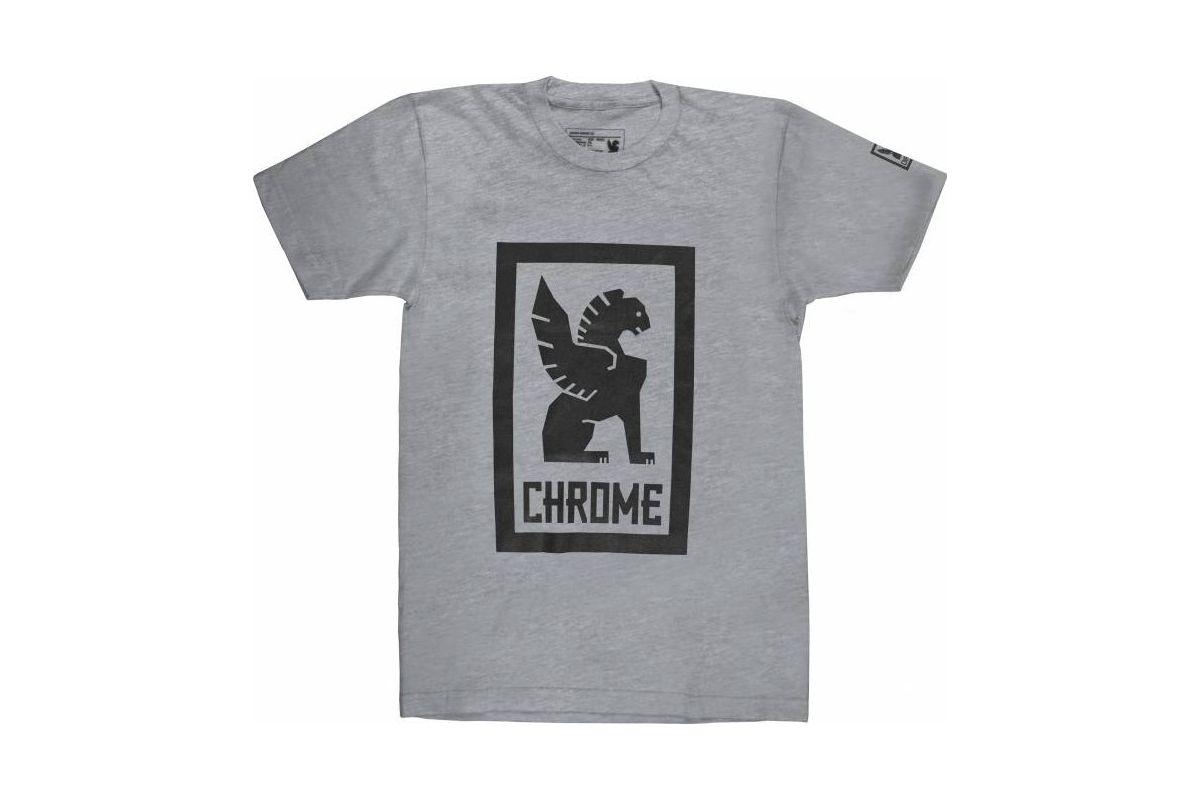 T-Shirt Chrome Large Lock Up - Gris