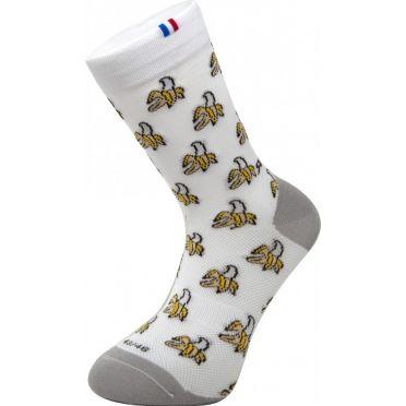 Paire de chaussettes cycliste Rafa'L Funny - Banana