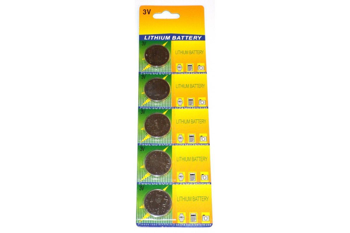 Pack de 5 piles CR2032 Lithium