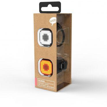 Combo éclairage vélo LED Knog Blinder Mini Square