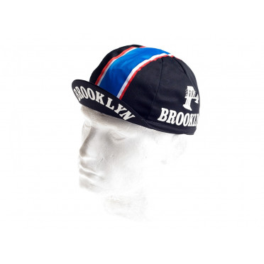Casquette cycliste vintage - Brooklyn Black