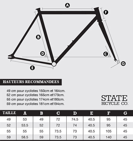 guide des tailles cadre de v lo fixie singlespeed beastybike. Black Bedroom Furniture Sets. Home Design Ideas